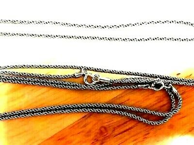 Wholesale Bali 2.5 mm S Rope Oxidized Sterling - Priced for Quantity Discounts