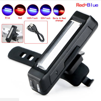 LED USB Rechargeable Bicycle Bike Cycling Front/Tail Rear Light Warning Lamp Set