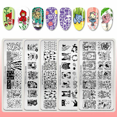 BORN PRETTY Nail Stamping Plates Template Images Animal Fairy Tale Theme DIY