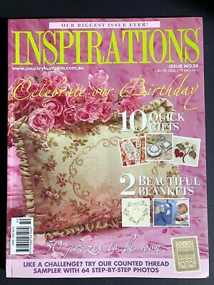 Inspirations Magazine Issue 50, 2006. Pattern sheets still attached.