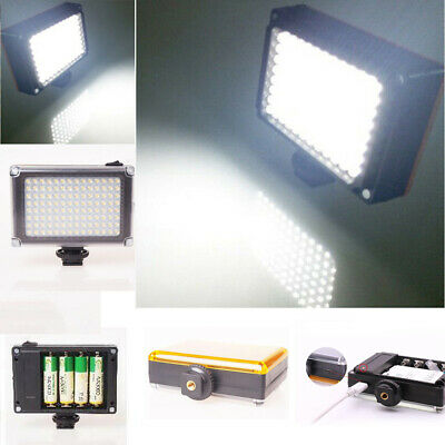 Portable 112 LED Video Light Dimmable Rechargable Panal Lamp for DSLR Camera