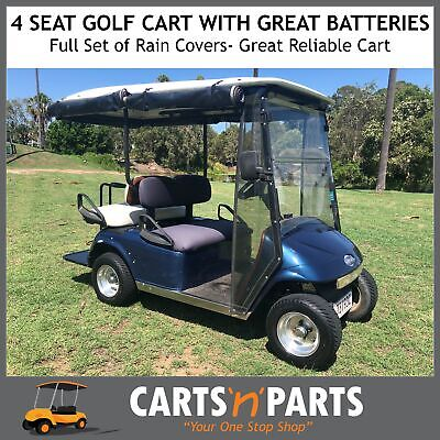 4 Seat Golf Cart Buggy with Great Batteries Full Set of Rain Covers Fairplay