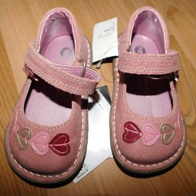 New With Tags Little Girls Walkmates Pink Leather Shoes Rrp $79