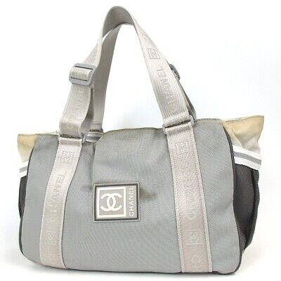 07919431eace AUTHENTIC CHANEL SPORTS line CC mark Shoulder Bag Nylon/Rubber[Used ...