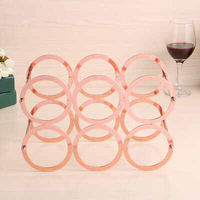 1xDisplay Shelf 6 Bottle Wine Rack Metal Wine Bottles Holder Storage Stand Decor