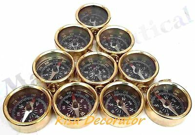 "Vintage 1"" Lot of 20 pcs Antique Gift Collectible Designer Golden Finish Compass"