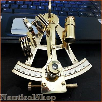 "4"" Solid Brass Sextant Nautical Marine Instrument Astrolabe Ships Maritime Style"
