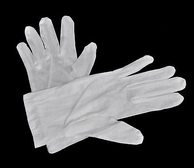 1 Pair White Lab Gloves - SIZE M - from Cotton - New
