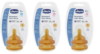 CHICCO WELL BEING 2 BABY BOTTLE LATEX TEAT FEEDING BPA free 0+ 2+ 4+ 6+ 2pcs set