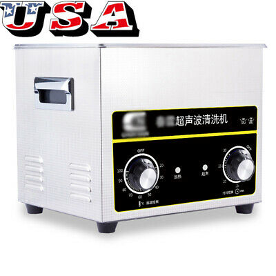Digital Stainless Ultrasonic Cleaner 3.2L Sonic Bath Cleaning Tank Timer Heater