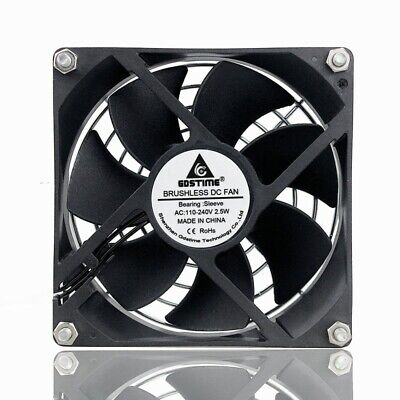 AC 110V 120V 220V 240V Sleeve Bearing 92mm 92x92x25mm Computer Case Cooling Fan
