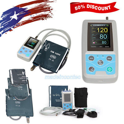 CONTEC Ambulatory Blood Pressure Monitor 24 Hours NIBP Holter 3 Cuffs CE FDA USA