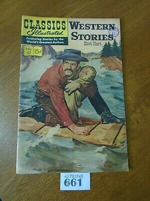 No.62 WESTERN STORIES / Bret Harte - Classics Illustrated Comic