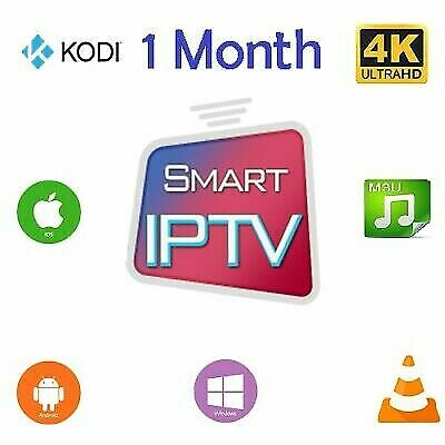 1 Month IPTV Subscription Full HD & SD (MAG, iOS, Android, SMART TV, firestick)