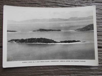 Scarce 1940 's Day Dream Island Whitsunday passage postcard Queensland QLD