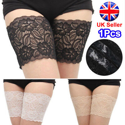 1x Non-Slip Lace Elastic Sock Anti-Chafing Thigh Band Prevent Thigh Chafing Sock