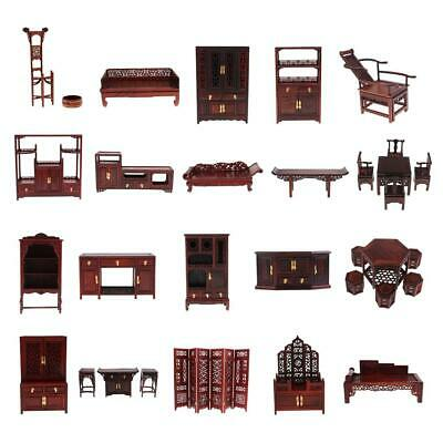 1/6 Dollhouse Miniature Wooden Furniture Vintage Chinese Style for BJD/Hot Toys