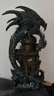 Dragon Lair Statue Decoration Figure Mystical Goth Sculpture Decor Ornament New