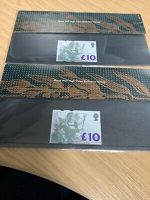 Royal Mail High value Definitive Stamp £10 X 2 1993