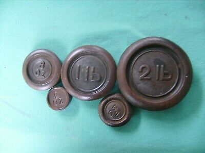 Cast-Iron Vintage Balance  Scale Weights Great Condition ,found In Storage