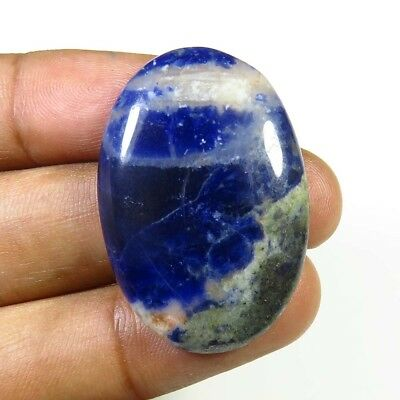 BLUE SODALITE CABOCHON OVAL LOOSE NATURAL GEMSTONE 32 Cts. FREE SHIPPING SL-10