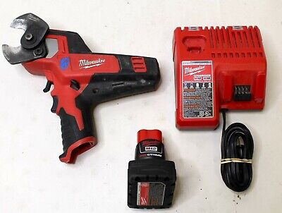 Milwaukee M12 12V 600 mcm Cable Cutter 2472-20 w/ Battery and Charger 48-59-1812