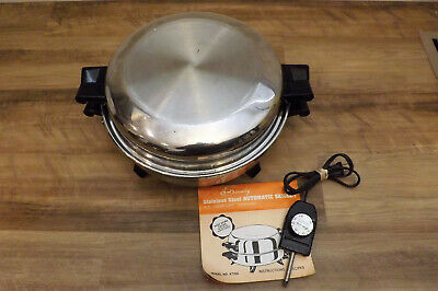 Society Electric Skillet 12 Inch Oil Core High Dome Lid 7253 Regal Ware
