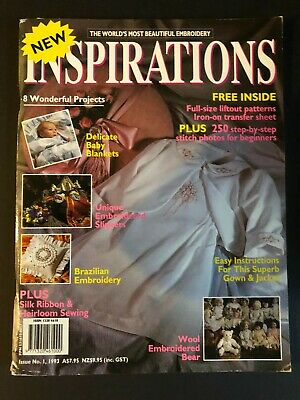 Inspirations Magazine Issue 1, 1993. Pattern sheets still attached. Rare