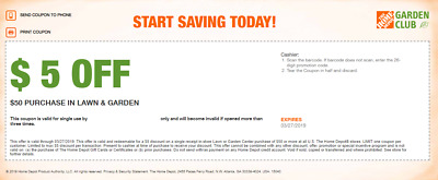 Home Depot Coupon $20 Off Savings Purchase In Store Exclusive Store Redemption