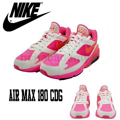 NIKE AIR MAX 180 X Comme Des Garcons CDG Pink AO4641 600 Men's Size 8