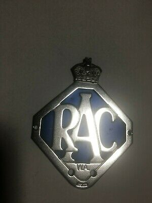 Car Mascot Badge RAC Queens Crown 1956  Royal Automobile Club W.A.  Australia
