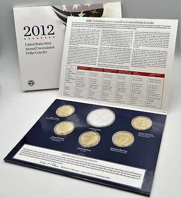 Annual Uncirculated Dollar Coin Sets OGP  2012, 2013, and 2014