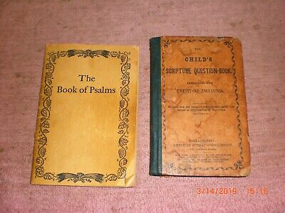 LOT OF 3 Books from the American Sunday School Union, 1800's