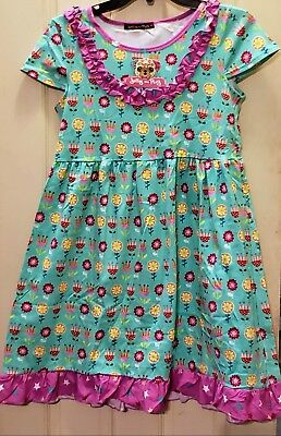 NWT NEW Jelly the Pug Girl's Size 14 Unicorn Bailey Dress Knit Cotton Floral