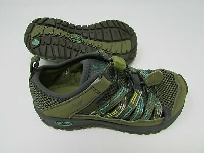 CHACO OUTCROSS 2 KIDS HIKING SLIP ON SHOES  Charcoal//BLUE YOUTH 10-5 New