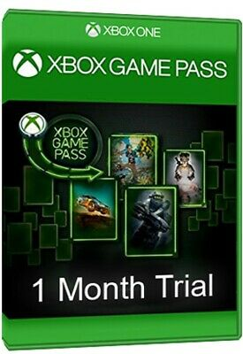 Xbox One Game Pass - 1 Month Trial Subscription - 1 Hour Free Delivery - Global