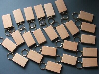 50mmx30mm BEECH KEYRING BLANKS,PYROGRAPHY,ENGRAVINGetc.18 FOR £12.30 inc post