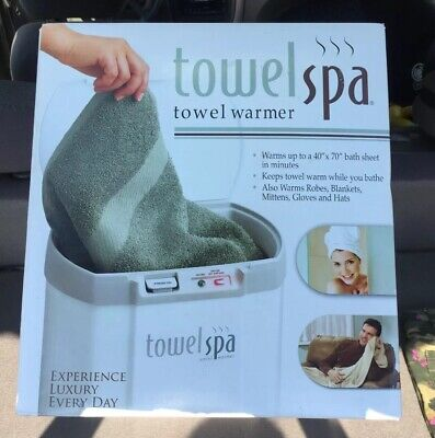 Brookstone Towel Spa Towel Warmer Heater Innovation Direct - NEW IN BOX