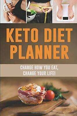 Keto Diet Planner: Change How You Eat  by Shy Panda Notebooks New Paperback Book