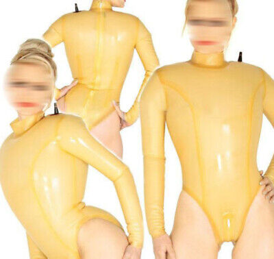 Fashion 100% Latex Rubber Gummi 0.40mm Inflatable Leotard Bodysuit Catsuit Suit