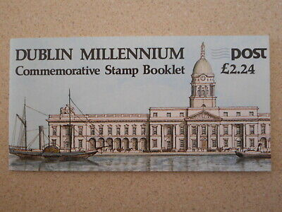 Mint NH DUBLIN MILLENNIUM Commemorative Stamp Booklet & Pope Paul II Pl# Block