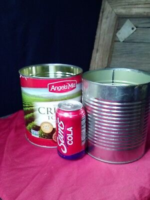Empty Tin Can 2 Extra Large for crafting or practice target shooting