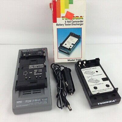 Sima Powermax Plus Camcorder Battery Charger & Tundra 6V Tester/Discharger