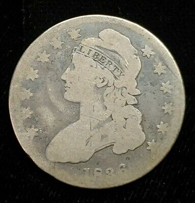 1836 Liberty Cap Capped Bust Half Dollar 50C .90 Silver Coin Edge Lettering