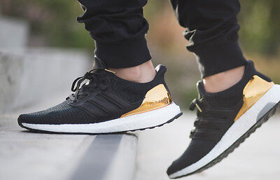 747e68e56 Adidas UltraBoost Limited 2.0 OLYMPIC Gold Medal Black White BB3929 Men 9.5  Shoe