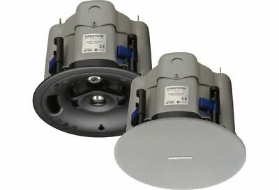 New 90B Pair White Crestron Saros SR6T-W-T Surface-Mount All Weather Speakers