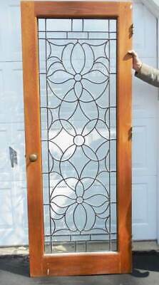 Antique American BEVELED LEADED ( stained ) DOOR c. 1890 -1900