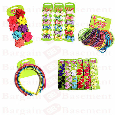 Girls Kids Childrens  Hair Bow Ponies Elastic Bobbles Rope Clips  Accessories