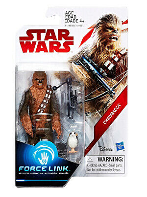 "Star Wars E8 Series Force Link Chewbacca 3.75"" Figure Hasbro Toy"