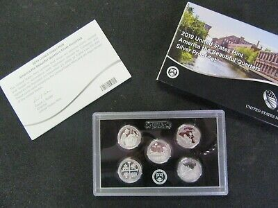 2019 S US Mint Silver Quarter Proof Set With Box and COA